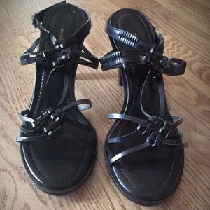 Banana Republic Black Leather Strappy Sandal NWOT